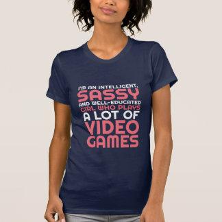 Rolig dobbelT-tröja för Geeks och Gamersflicka T Shirts