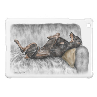 Rolig Doberman på soffan iPad Mini Skal