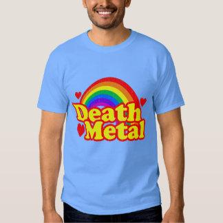 Rolig dödmetallregnbåge (den bekymrade looken) t-shirts