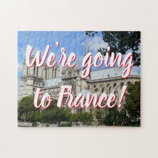 Rolig domkyrka av Notre Dame i det Paris Pussel