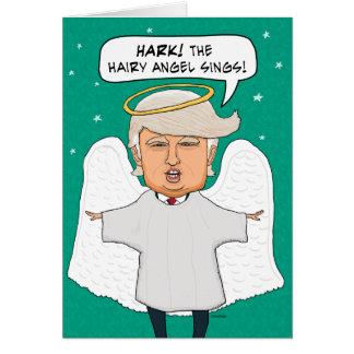 Rolig Donald Trump Lookalike hårig ängeljul Hälsningskort