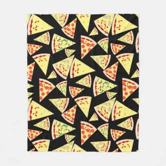 Rolig dynamisk slumpmässig mönsterPizzaälskare Fleecefilt