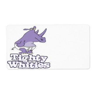 rolig enfaldig noshörning i tighty whitiesunderklä fraktsedel