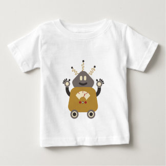 Rolig enfaldig Retro robotT-tröja T-shirts