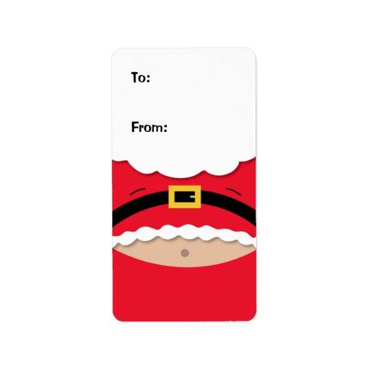 Rolig etikett för julgåvamärkre adressetikett