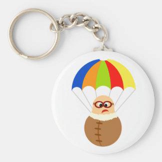 Rolig fallskärm Keychain Rund Nyckelring