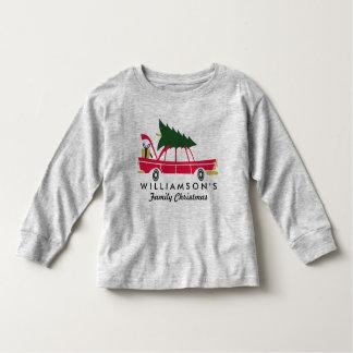 Rolig familjjul som kommer med det hem- t-shirts