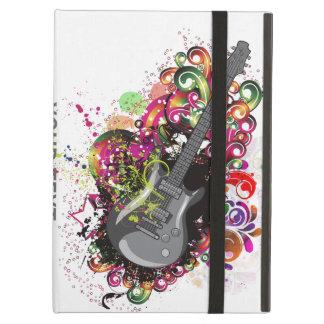 Rolig färgrik retro gitarripad cover för personlig iPad air fodral