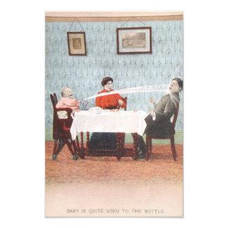 Rolig fars dag för vintage för babySeltzerflaska Fototryck