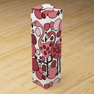 Rolig FlamingokonstPresentask för Vinflaska Presentask För Vinflaska