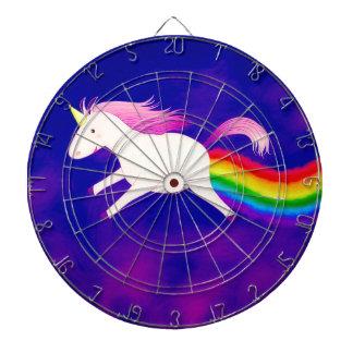 Rolig flygUnicorn som fiser en regnbåge Darttavla