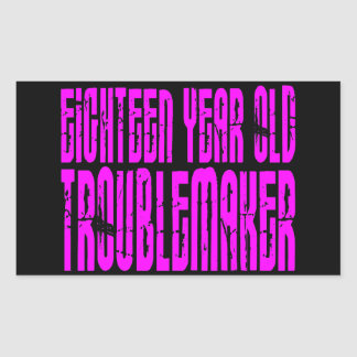 Rolig födelsedagen arton åriga Troublemake för Rektangulärt Klistermärke