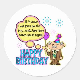 Rolig födelsedaggåva runt klistermärke