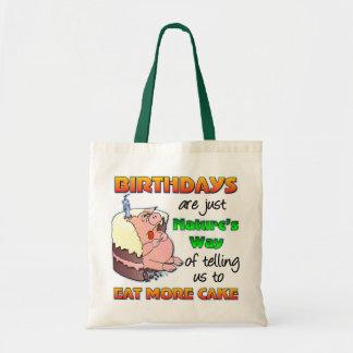 Rolig födelsedaggåva tygkassar