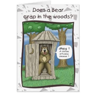 Rolig Födelsedagskort: Björn i skogen Hälsningskort