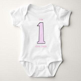 Rolig första födelsedagskjorta för en flicka t-shirt