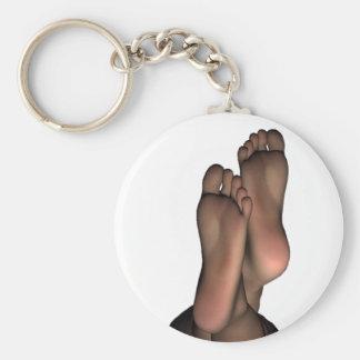 Rolig fot rund nyckelring