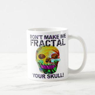 Rolig Fractalskalle Kaffemugg