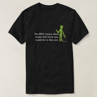 Rolig främmande Lifeform T-tröja Tröjor