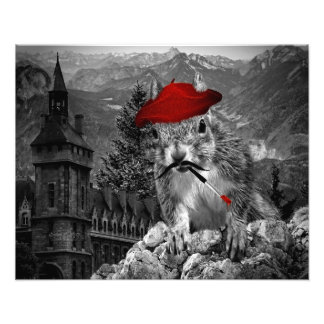rolig fransk ekorrekonst för målare 20x16 fototryck