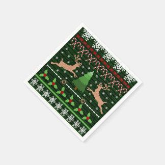 Rolig ful inspirerad jultröja pappersservetter