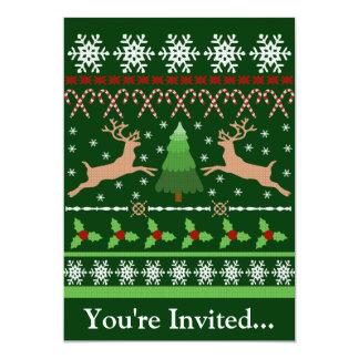 Rolig ful jultröja personliga inbjudningskort