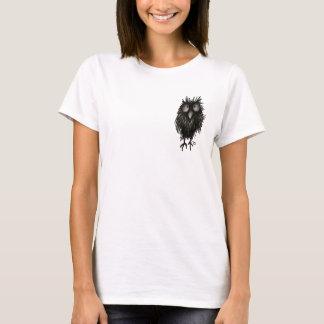 Rolig galen uggla t-shirts