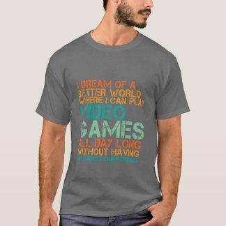 Rolig GamersT-tröjagåva för Nerds och Geek Tshirts