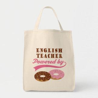 Rolig gåva för engelsk lärare tote bags