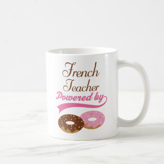 Rolig gåva för fransk lärare kaffe koppar