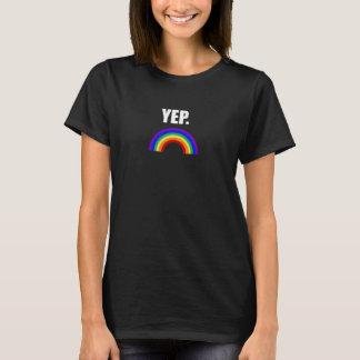 """Rolig gay pride """"Yep"""" skjorta för T Shirts"""