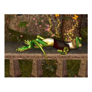 Rolig gecko vykort