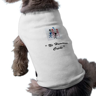 "Rolig Geekhund tröja ""Ne Humanus Crede "","
