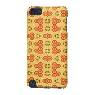 Rolig geometrisk orange och gult iPod touch 5G fodral