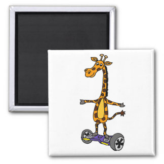 Rolig giraff på Motorized Skateboardkonst Magnet