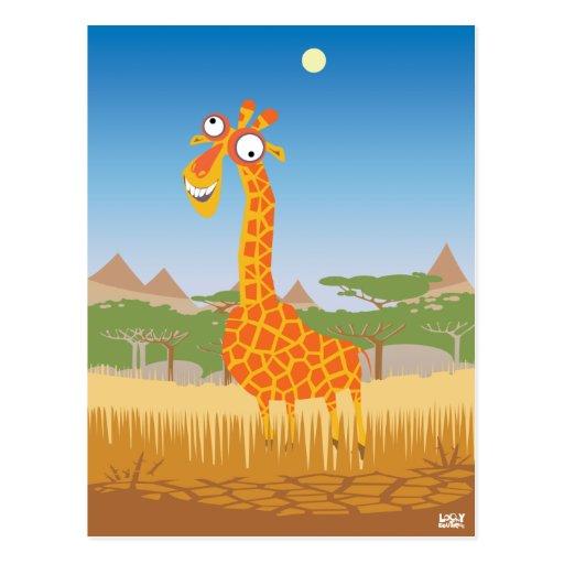 Rolig giraff vykort
