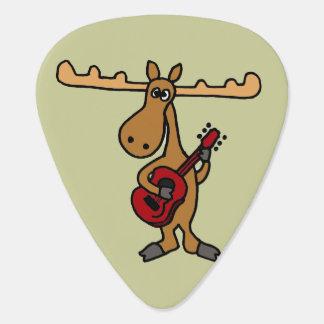Rolig gitarr som leker älggitarren Plektrum