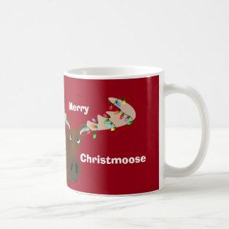 Rolig glad ChristMoose helgdagmugg Kaffemugg