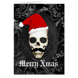 Rolig gotisk Santa jul OBS Kort