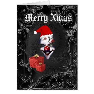 Rolig gotisk santa svart jul hälsningskort