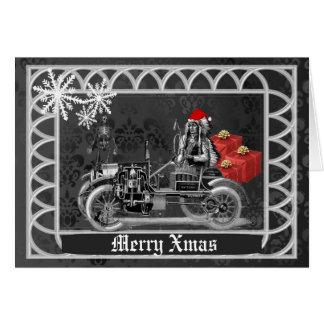 Rolig gotisk steampunkjul hälsningskort