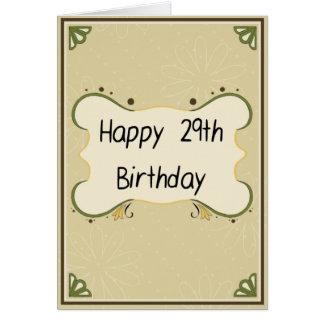 Rolig grattis på födelsedagen - 29th… igen hälsningskort