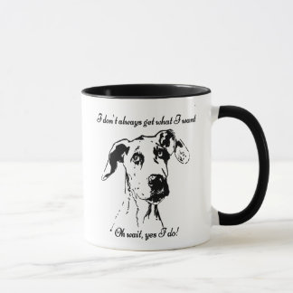 Rolig great dane spolierat mugg