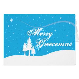 Rolig grekisk julkort - - glada Greecemas OBS Kort