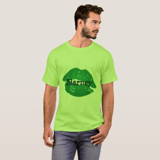 Rolig grön irländsk kyss Blarneyläppstifttrycket Tee Shirt