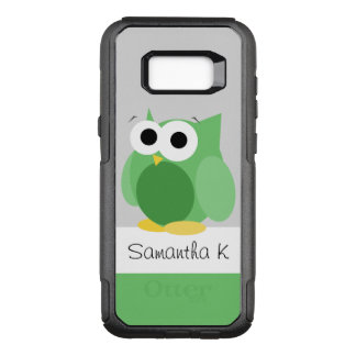 Rolig grön ugglaSamsung galax S8 OtterBox Commuter Samsung Galaxy S8+ Skal