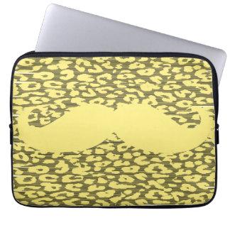 Rolig gul mustasch laptop fodral