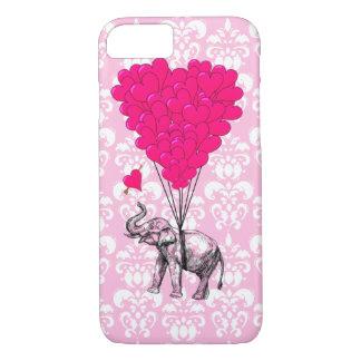 Rolig gullig elefant & rosadamast