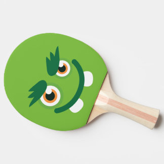 Rolig gullig grön Monster. Pingisracket