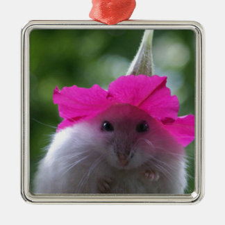 Rolig gullig Hamster Julgransprydnad Metall
